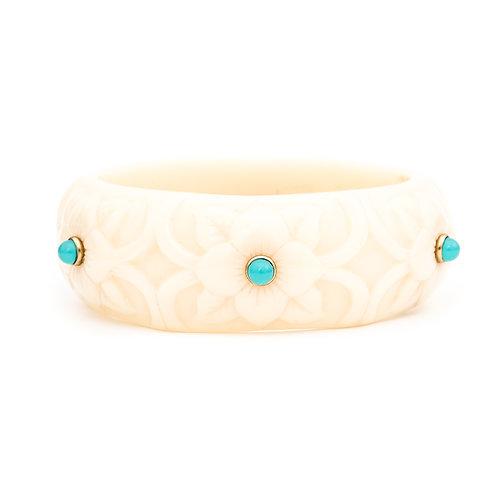 Bracelete Floral Turquesa