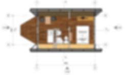 План дачного дома на 18м2