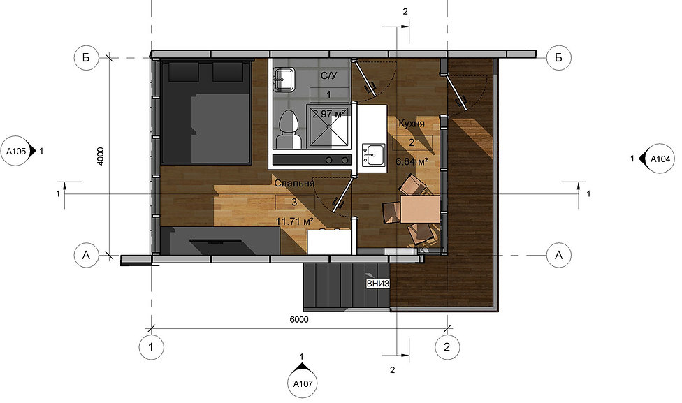 План дачного дома