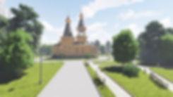Проект дереянного храма