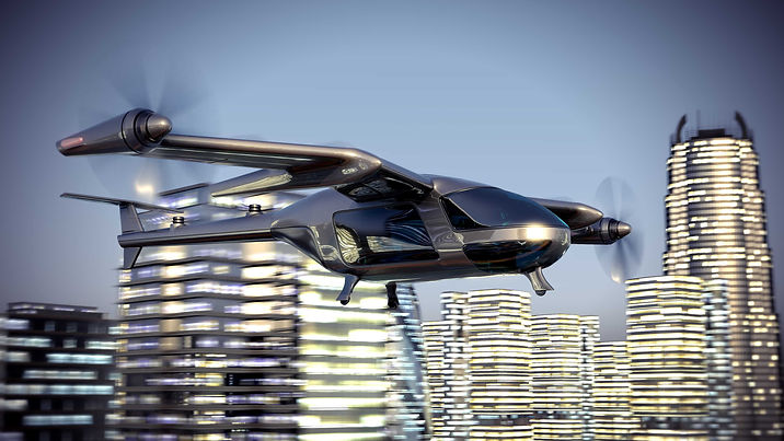 air taxi flying electric propulsion moto