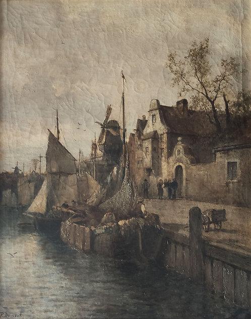 Pierre Jean Dumont – Hafenansicht