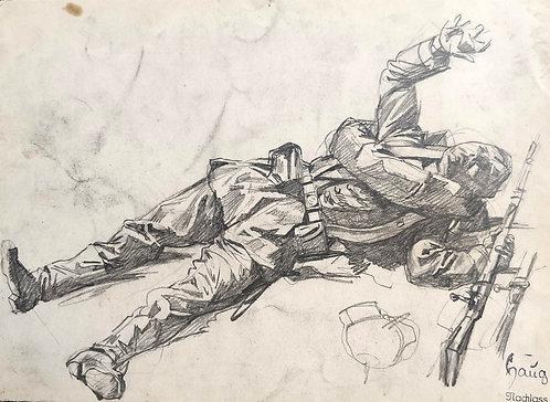Robert von Haug – Verwundeter Soldat