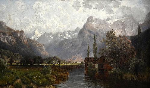 Josef Schoyerer – Brunnen mit den Urner Alpen