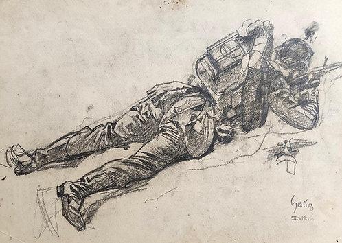 Robert von Haug – Schiessender Soldat