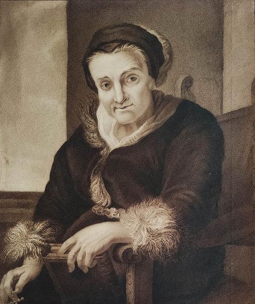 Joseph Karl Stieler (?) – Bildnis einer alten Frau (nach Schoonjans)