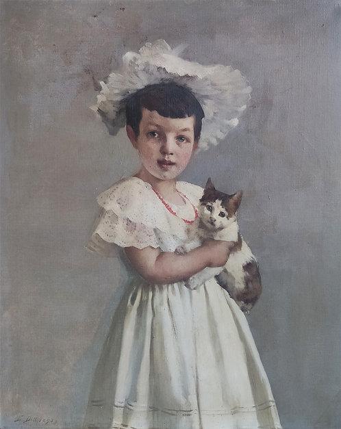 Emil Dill – Lucie Dill mit ihrer Katze