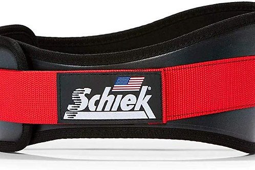 "Schiek 3006 6"" Power Nylon Lifting Belt (Black/Red)"