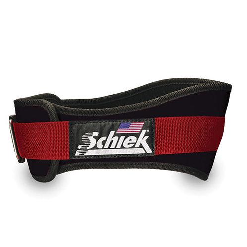 """Schiek 3004 4 3/4"""" Power Nylon Lifting Belt (Black/Red)"""