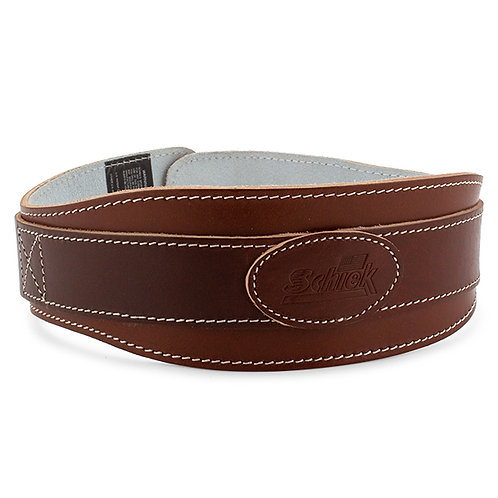 "Schiek L2004 4 3/4"" Leather Padded Lifting Belt (Brown)"