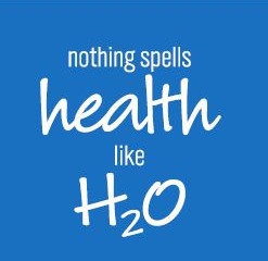 Nothing spells health like H2O!