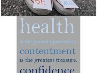 Health is the greatest possession!