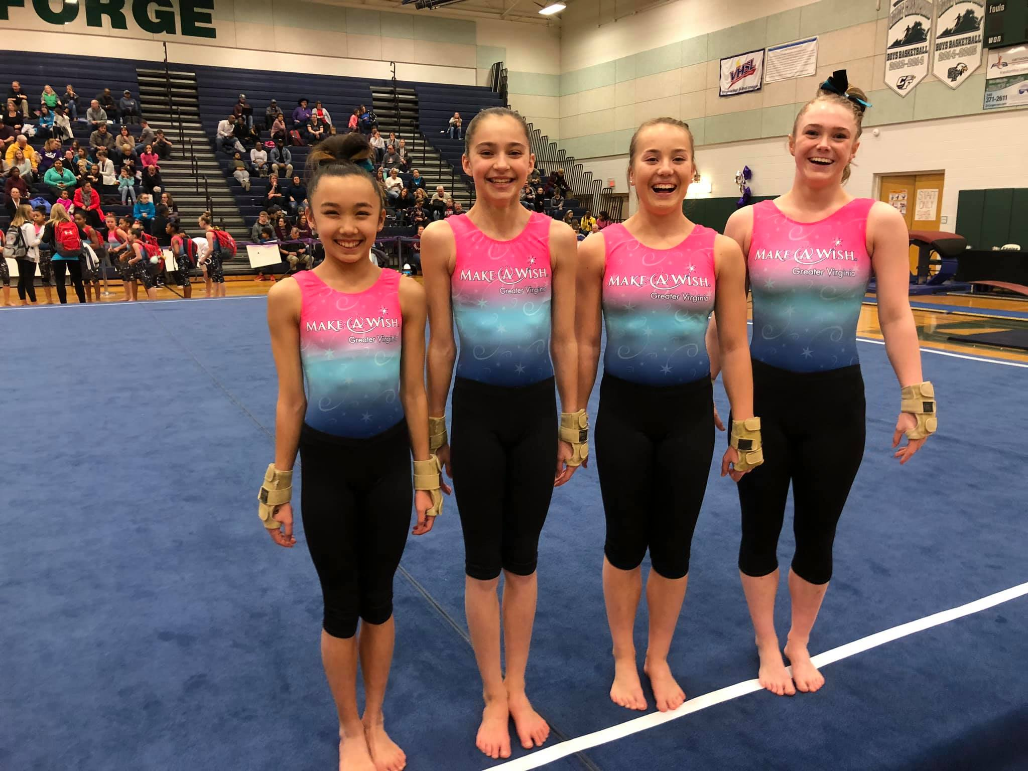 Gymnastics competition smile