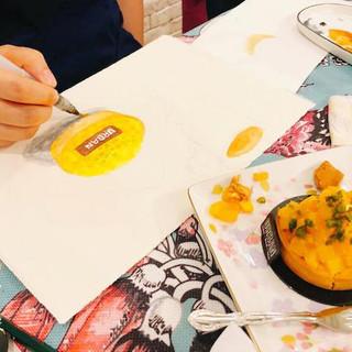High tea watercolour sketching workshop6
