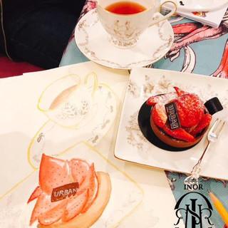 High tea watercolour sketching workshop9