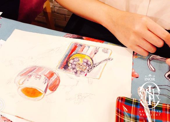 High tea watercolour sketching workshop1
