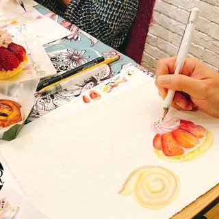 High tea watercolour sketching workshop7