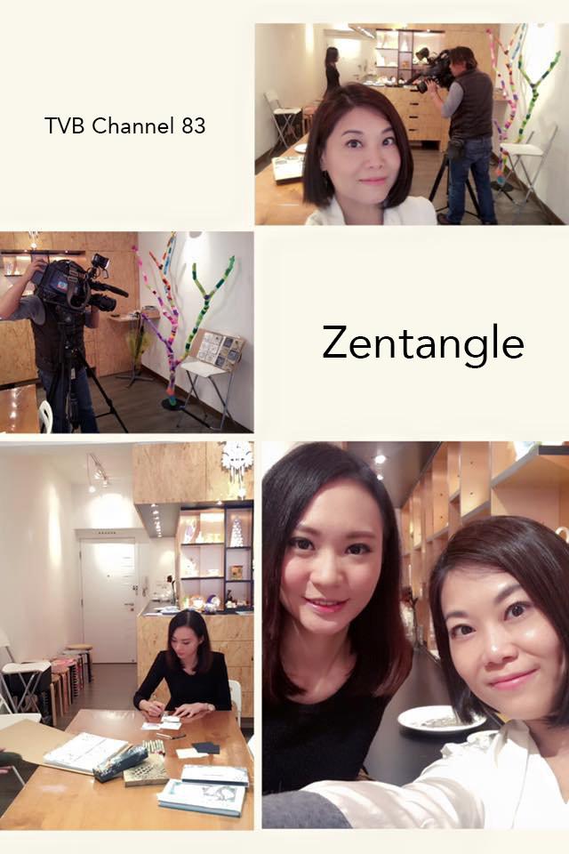今日TVB 有位靚女主持嚟採訪介紹Zentangle!