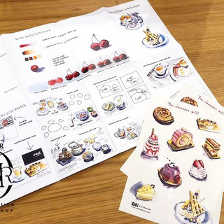 High tea watercolour sketching workshop8