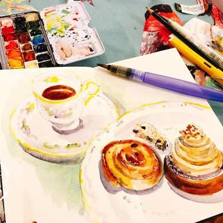 High tea watercolour sketching workshop5