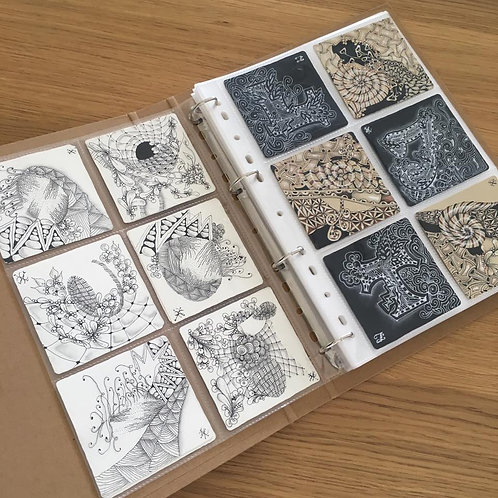 Zentangle Tiles Folder with 50 sheets