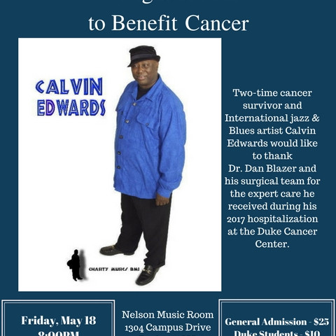 Calvin Edwards - A Night of Jazz Flyer (