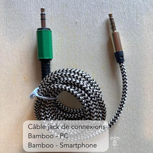 Bamboo câble Jack pour smartphone et ordinateur