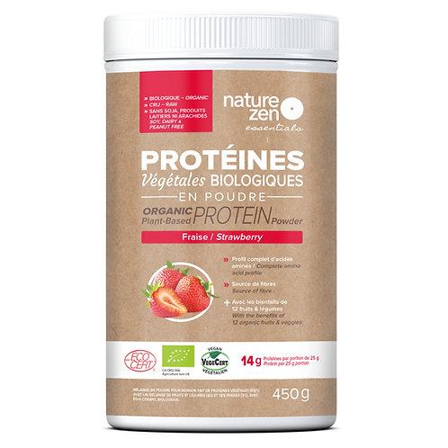 Bio-protéines crues NZ essentials FRAISES - 450g