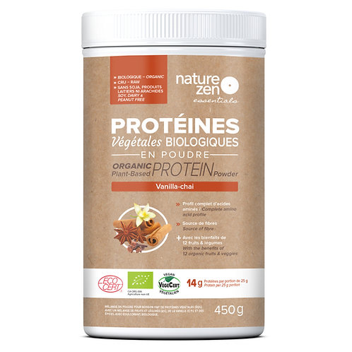 Bio-protéines crues NZ essentials VANILLA CHAI- 450g
