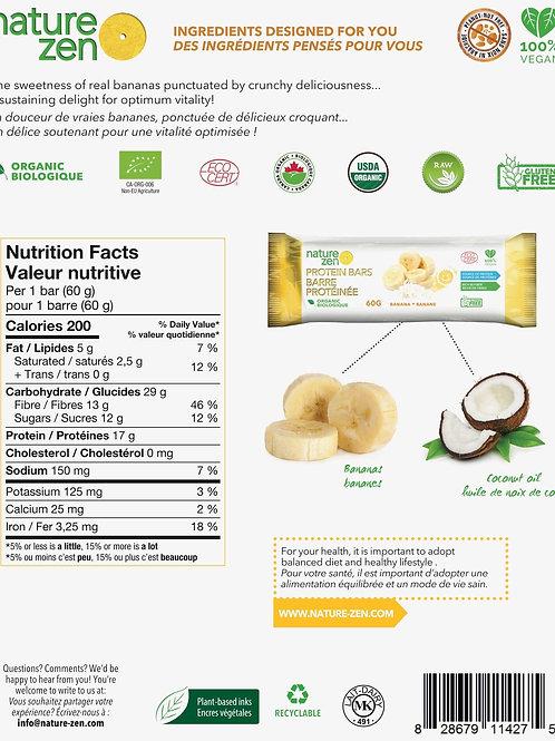Barre bio-proteines crues NZ Banane - 60g