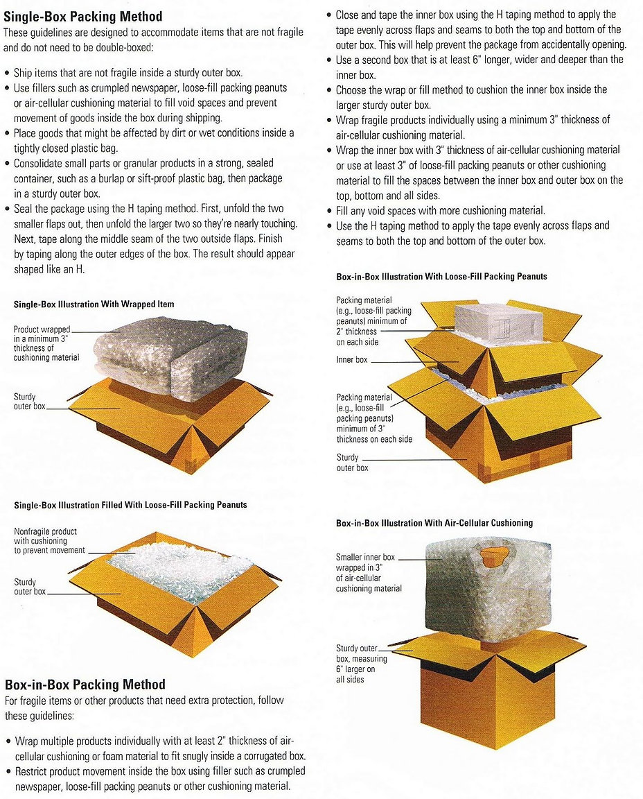 Wrapping and Packing Your Item