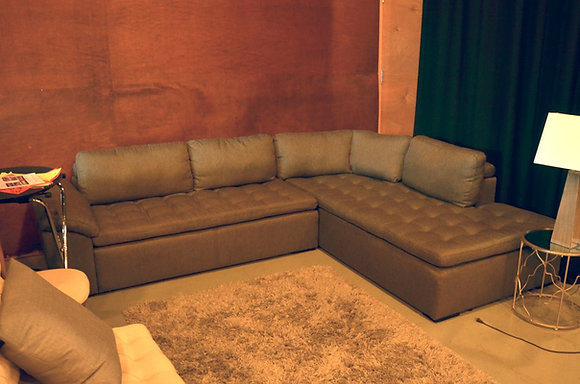 Modern Tufted Sectional (Grey)