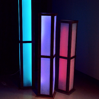 Led Box Floor Lanterns