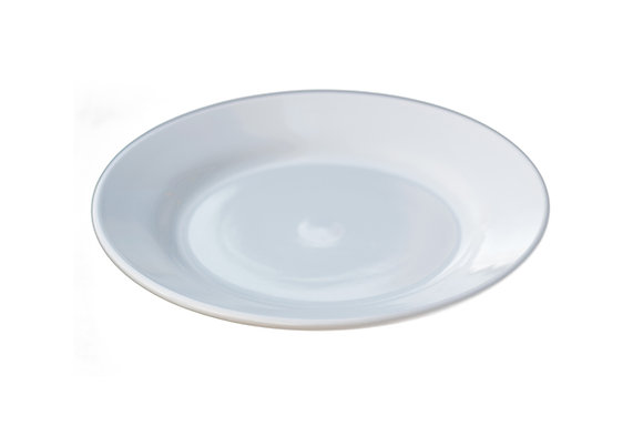 "7"" Rimmed China Plate White"
