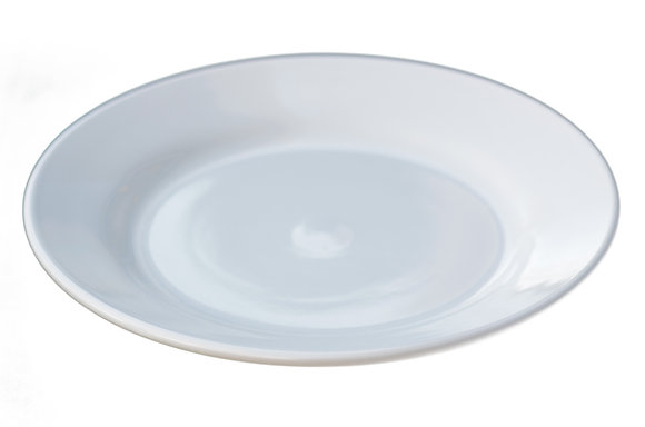 """10"""" Rimmed China Plate White"""