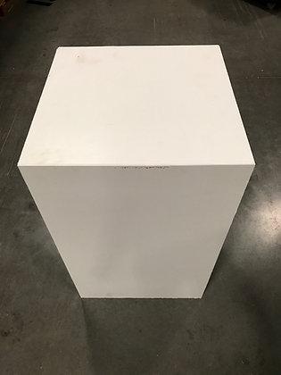 "42""x22""x22"" White Pedestal Stand"