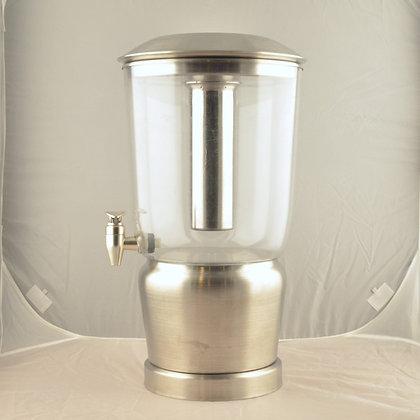 Brushed Metal Beverage Dispenser