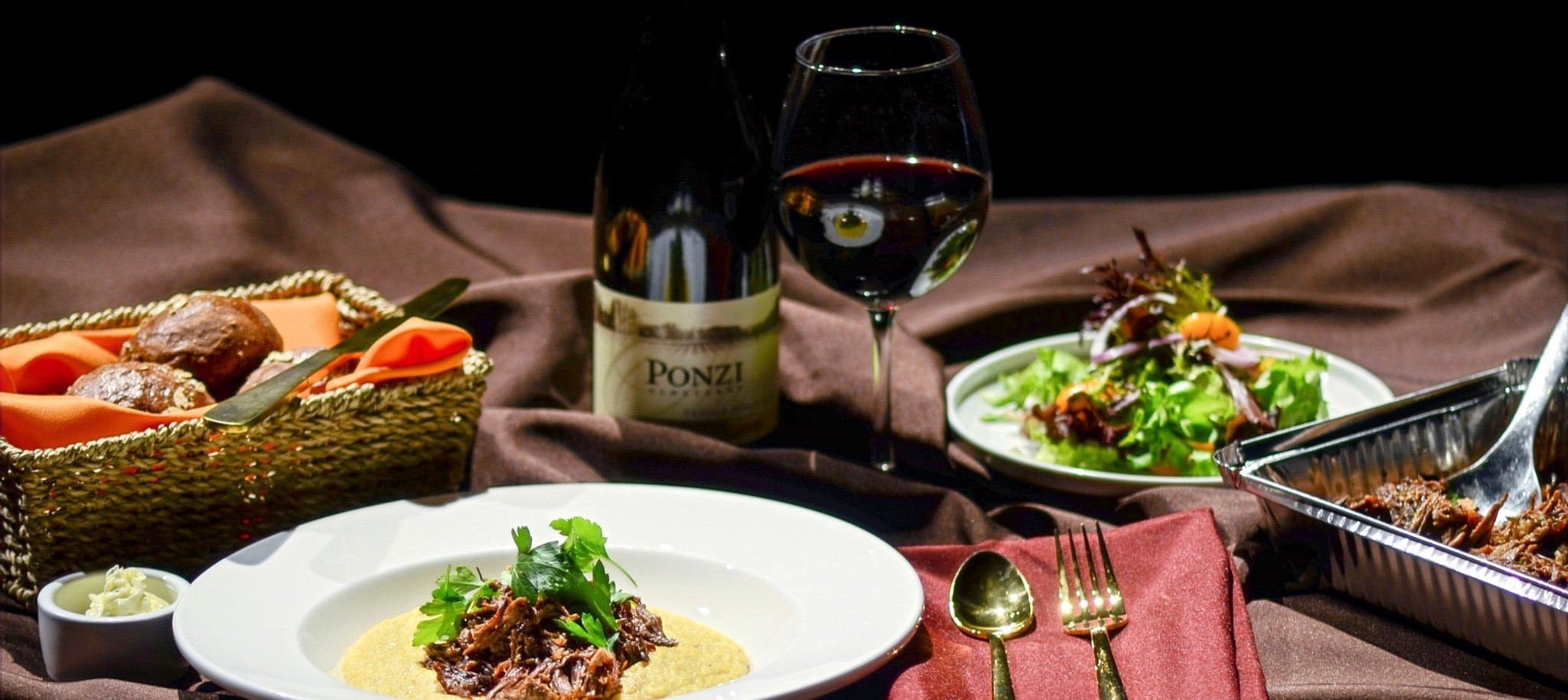 Pinot Braised Beef with Creamy Polenta.j