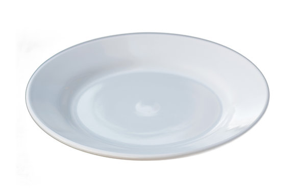 """9"""" Rimmed China Plate White"""