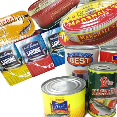 Canned Sardine in Different Sizes