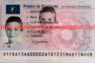 Buy Real French drivers license online, Fake driving license
