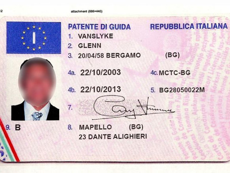 Driving license in Italy