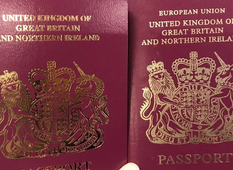 First British passports without 'European Union' printed on cover issued