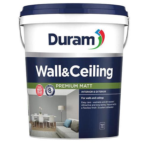 Wall & Ceiling paint DURAM White 20L