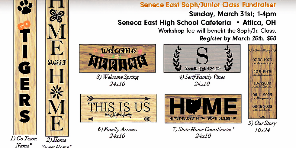 Seneca East RF&B Class Fundraiser