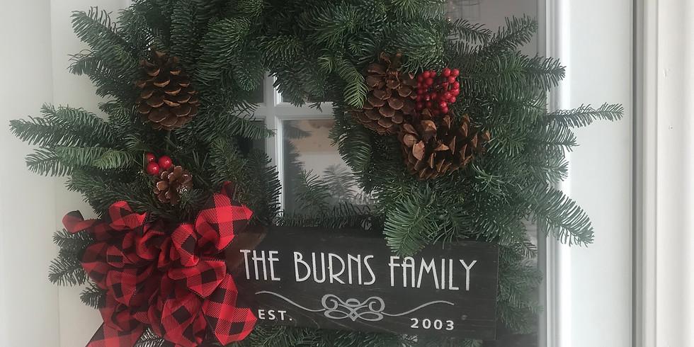 Fresh Pine Personalized Wreath Workshop