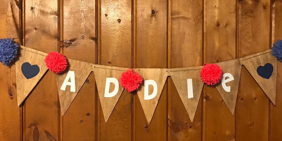Wooden Name Pennant
