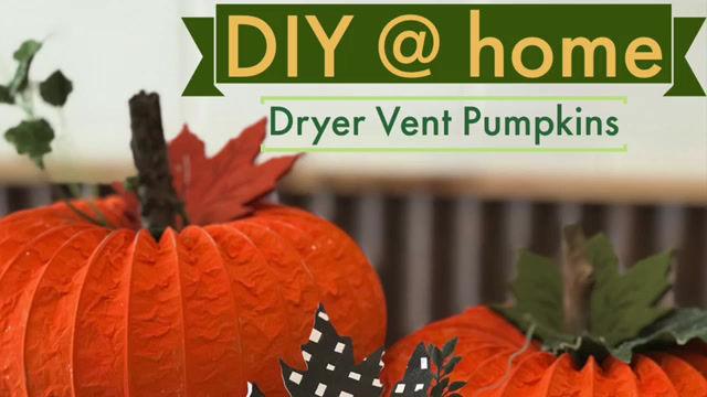 Project: Dryer Vent Pumpkins