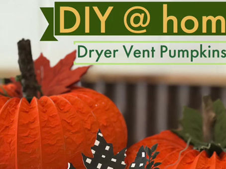 Project: Dryer Vent Pumpkins