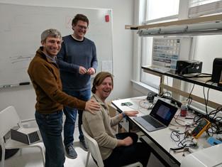 Engineers debugging prototypes